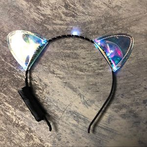 Accessories - Light Up Holographic Cat Ears Headband